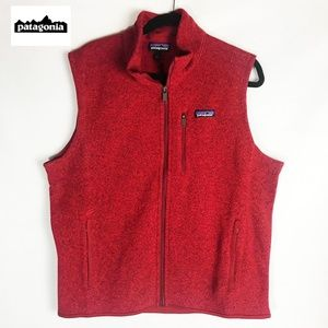 "Patagonia ""Better Sweater"" Red Vest Full Zip L"